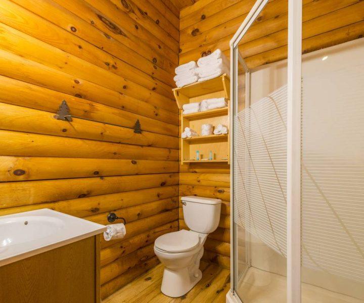 Deluxe Camping Cabin Bathroom