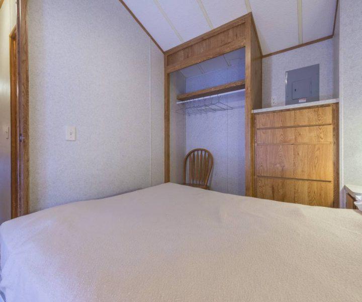 Jellystone Warrens Park Model Bedroom with Closet