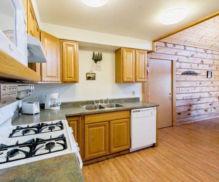 Warrens Villas kitchen area